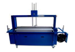 Автоматическая обвязочная машина с выравнивателем, поворотным столом и конвейером - фото
